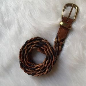 Accessories - Vintage braided GENUINE  LEATHER  BELT